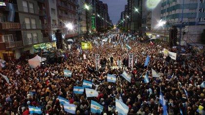 Macri en Mar del Plata (Foto: @mauriciomacri)