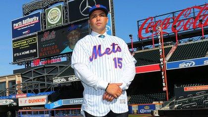 Carlos Beltrán fue presentado en noviembre como manager de los Mets (Foto: Twitter @MLB)