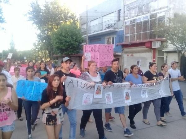 Marcha en la última Navidad en Otamendi, organizada por la familia Aranda.