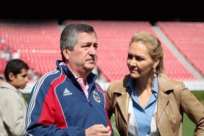 Tanto Angélica Fuentes como Jorge Vergara, ex dueños del club, respaldaron a su trabajadora (Foto: Archivo)