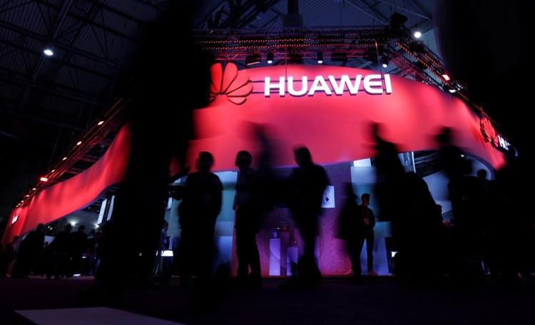 El logo de Huawei en el Word Mobile Congress de Barcelona de 2018 (Reuters)