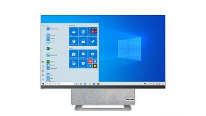 El modelo Yoga AIO 7, PC de escritorio con pantalla giratoria, fue presentado por Lenovo en el marco de CES 2021.