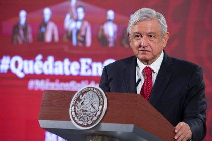 """El Presidente de México Andrés Manuel López Obrador declaró: """"No quiere decir que no exista la violencia contra las mujeres: el 90 por ciento de esas llamadas son falsas"""" (EFE/ Presidencia de México)"""