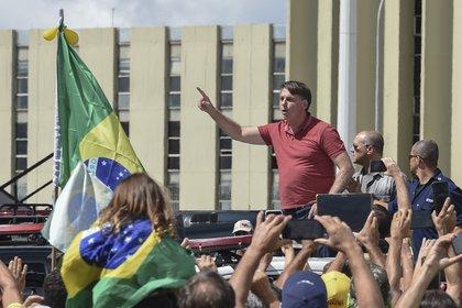 En los últimos días, el presidente no participó de manifestaciones convocadas por sus simpatizantes, como sí lo hizo semanas atrás (AFP)