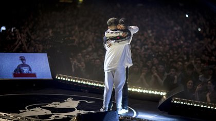Dozer, el battle rapper cristiano, se coronó campeón en la última edición argentina de Batalla de los Gallos , el sábado 4 de agosto en el Luna Park, ante 6000 personas (Gentileza: Gustavo Cherro/Red Bull)