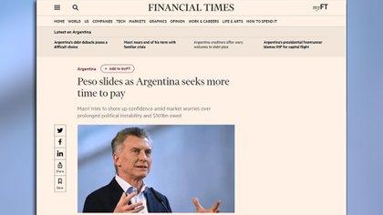 """El artículo del FT sobre la decisión del Gobierno de """"reperfilar"""" sus deudas"""