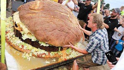 La hamburguesa más grande del mundo según la GWR 2019