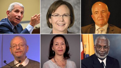 Anthony S. Fauci,  Elizabeth Connick, Paul A. Volberding,  Linda Bell,  Barry Bloom y David Satcher,