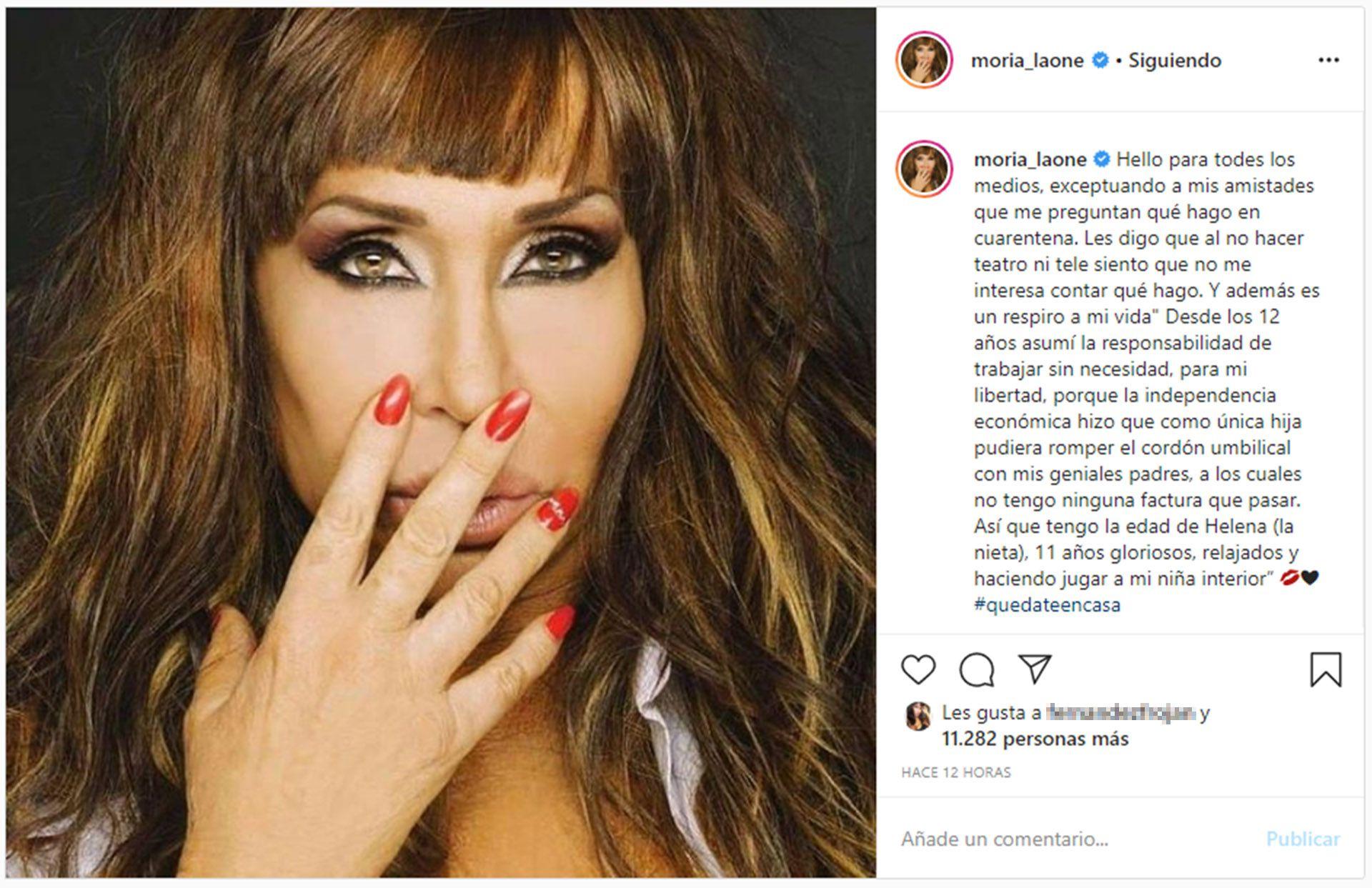 Moria Casán (Foto: Instagram)