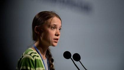 Greta Thunberg, en la Cumbre del Clima (AFP)