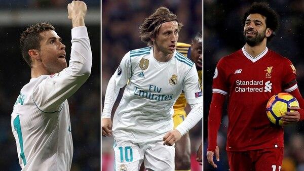 Cristiano Ronaldo, Luka Modric y Mohamed Salah son los elegidos