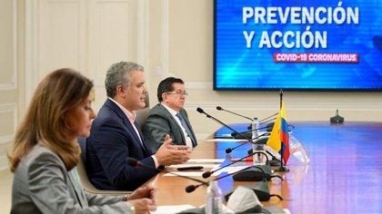 Iván Duque, Fernando Ruiz y Marta Ramírez. Foto: Presidencia.