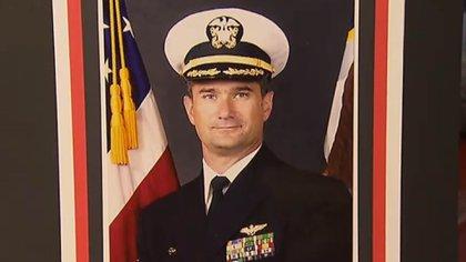 David Fravor en sus años en la Armada de los Estados Unidos. Cumplió 18 años de servicio (Getty)