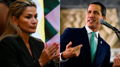 Jeanine Áñez y Juan Guaidó (Reuters)