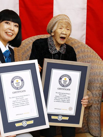 Kane Tanaka entró en el Guinness World Records en 2019 (Foto: REUTERS)