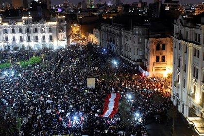 Manifestaciones en Perú contra el presidente Merino