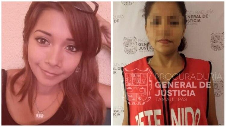 Nataly (izquierda) tenía 28 años y era madre de tres hijos cuando fue engañada por sus hermanas mayores y asesinada. Solo una de ellas, Marina (derecha), fue capturada, y este miércoles fue vinculada a proceso (Foto: Procuraduría General de Justicia de Tamaulipas)
