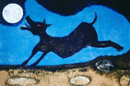 Perro ladrándole a la luna, 1988 (Foto: Museotamayo.org)