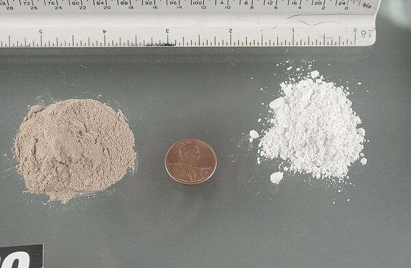 Las dos modalidades de heroína en el mercado: la negra y la blanca (DEA).