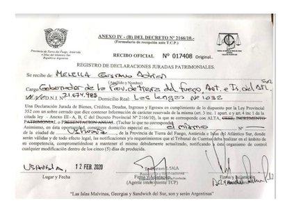Extracto de la declaración que Melella le envió a Infobae.
