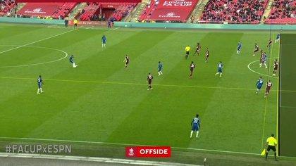 Controvertido fallo del VAR en el último minuto de la final de la FA Cup: el fuera de juego que le impidió a Chelsea empatar el partido