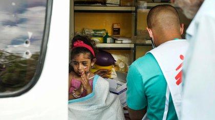 La atención de salud mental fue otro de los focos de Médicos Sin Fronteras (Prensa MSF)