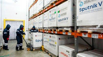 Cargamento de vacunas Sputnik V