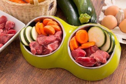 Hay una serie de alimentos saludablespara canes. Sin embargo, es importante tener cuidado con las pasas de uva, por ejemplo (Getty Images)