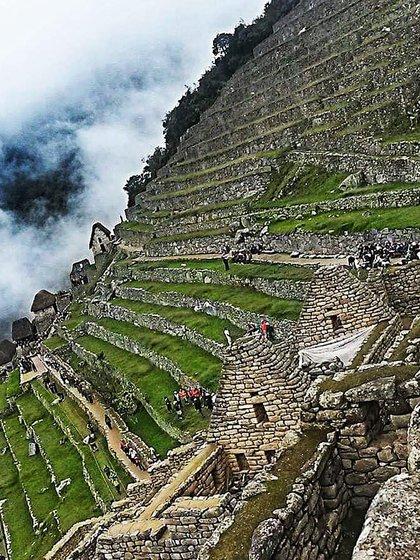 Los muros y construcciones incas de Machu Picchu están preservados casi a la perfección (@andrezakelly23)