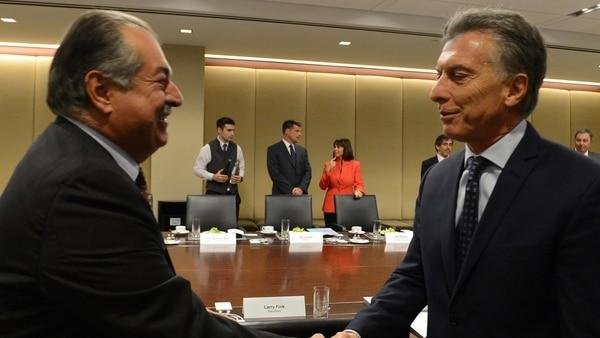 Macri con el CEO de The Dow Chemical Company, Andrew Liveris