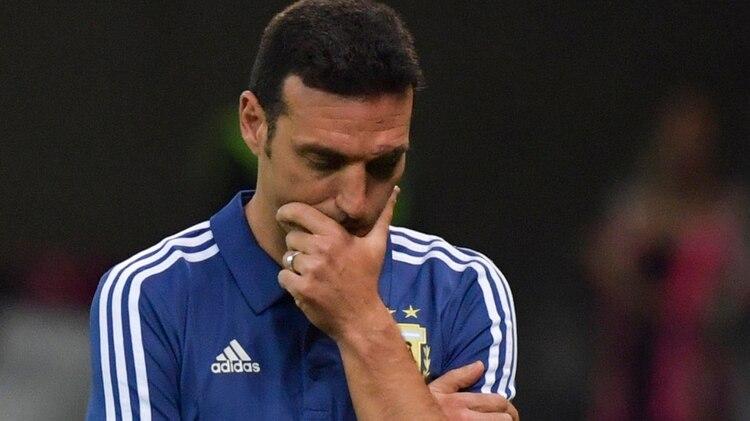 Lionel Scaloni, entrenador de la selección argentina (Photo by Luis ACOSTA / AFP)