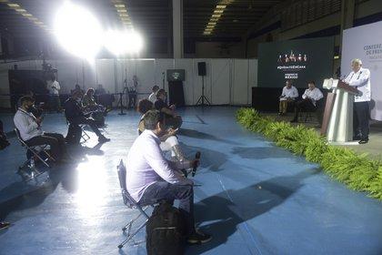 Yucatán, México, 2 de junio de 2020.Andrés Manuel López Obrador, presidente Constitucional de los Estados Unidos Mexicanos en conferencia de prensa desde Yucatán.Foto: Presidencia