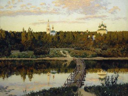 """""""La morada tranquila"""" (1890, Galería Estatal Tretyakov)"""