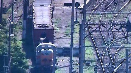 La estación Jacarezinho de la línea Supervia Trem (captura de pantalla/TV Globo)
