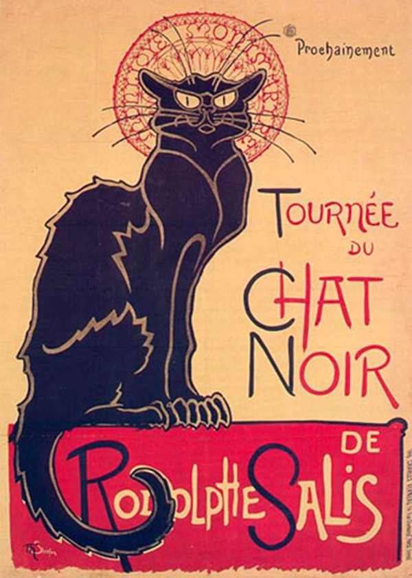 Gira del Gato negro de Rodolphe Salis, 1896, Théophile-Alexandre Steinlein, université Rutgers, Zimmerli Art Museum, New Brunswick, New Jersey, Estados Unidos.