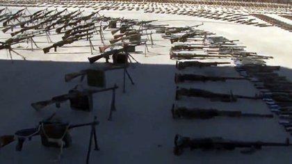 Los fusiles y morteros se contaban de a cientos