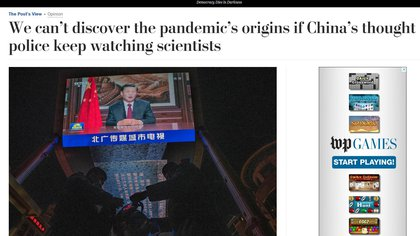 The Washington Post editorial on China and its cover-up of the pandemic (The Washington Post)