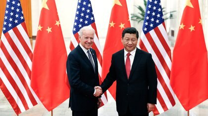 Joe Biden YG Jinping en 2016. Foto: A.P.