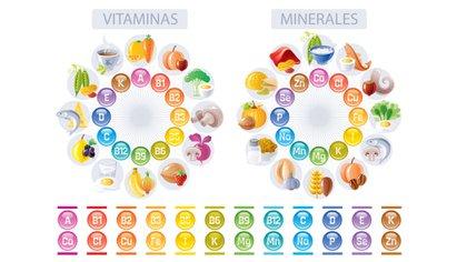 Los distintos tipos de vitaminas y minerales (Foto: Shutterstock)