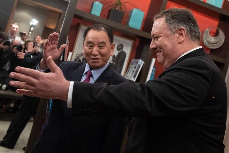 El secretario de Estado de los Estados Unidos, Mike Pompeo, recibió al vicepresidente norcoreano, Kim Yong Chol, antes de una reunión en Washington el 18 de enero de 2019