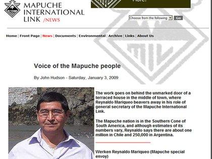 """Reynaldo Mariqueo es el """"werken"""", es decir, vocero o representante"""