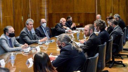 Reunión del gobierno con el Consejo Agroindustrial. Fue la semana pasada en el Ministerio de Economía