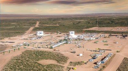 La planta de acondicionamiento de gas de TGS en Vaca Muerta