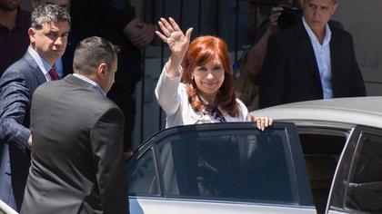 Cristina Kirchner, luedo de declarar (Foto: Adrián Escandar)