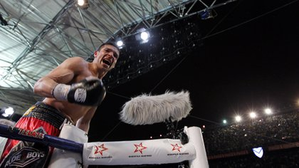 Maravilla Martínez durante el histórico combate que hizo en Vélez en el 2013 (Foto: Reuters)