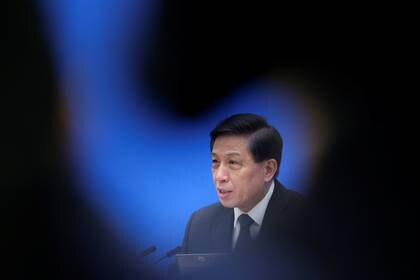 Zhang Yesui, portavoz de la Asamblea Nacional Popular (parlamento chino) (REUTERS/Jason Lee)