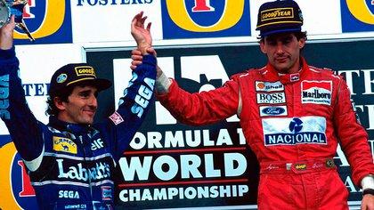 La última victoria de Senna y su reconocimiento a Prost (Foto: Twitter @F1).
