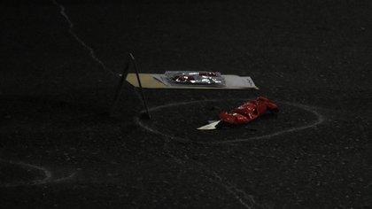 El cuchillo que utilizó Rodrigo Roza para apuñalar al policía Roldán (Nicolás Stulberg)