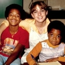 Dana Plato con Gary Coleman y Todd Bridges en 1980 (Archives/Getty Images) (Getty)