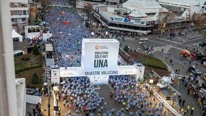 Desde 1964 los runners se reúnen en el barrio de Vallecas (Foto: Facebook San Silvestre Vallecana)